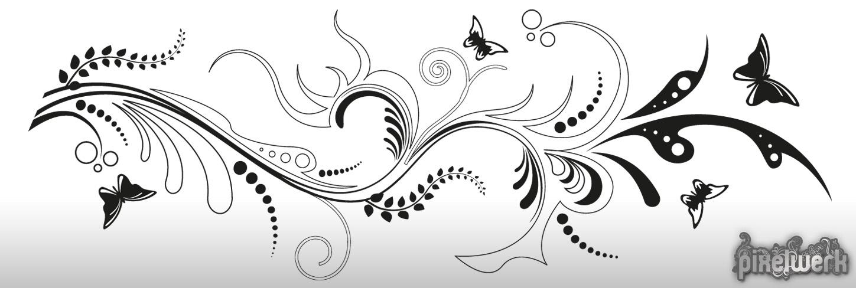wandtattoo floral ornament schmetterling ranke modern wohnzimmer wandaufkleber ebay. Black Bedroom Furniture Sets. Home Design Ideas